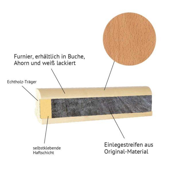 Holzeinlegeleiste-buche